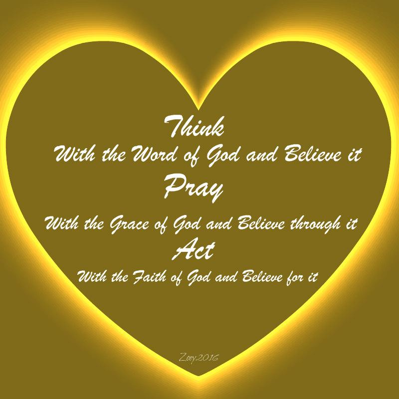 Think, Pray, Act